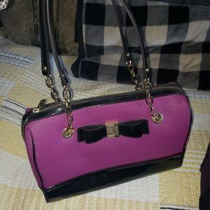 New, Anne Klein, purple/black, purse